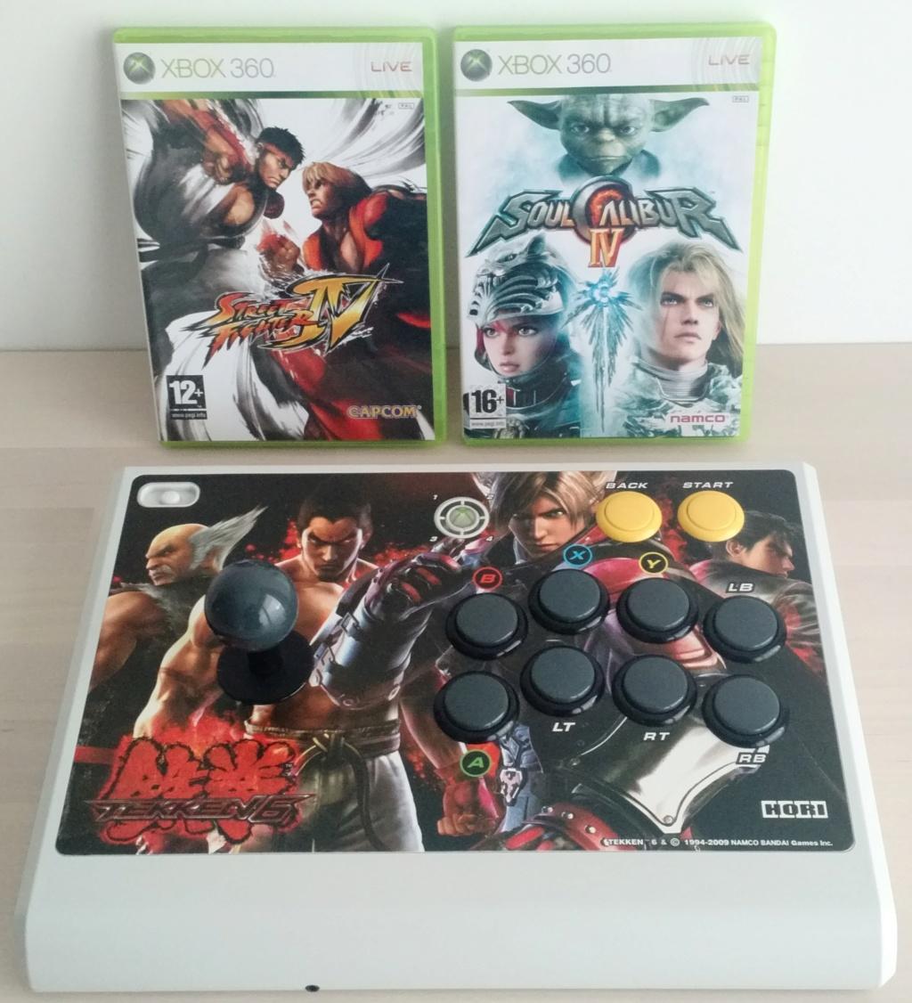 HORI stick arcade rechargeable + 2 jeux pour X360  Img_2014