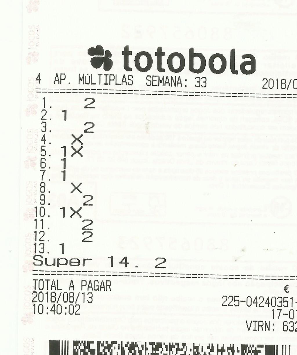Totobola - Opiniões para o concurso 33/2018 Totob119