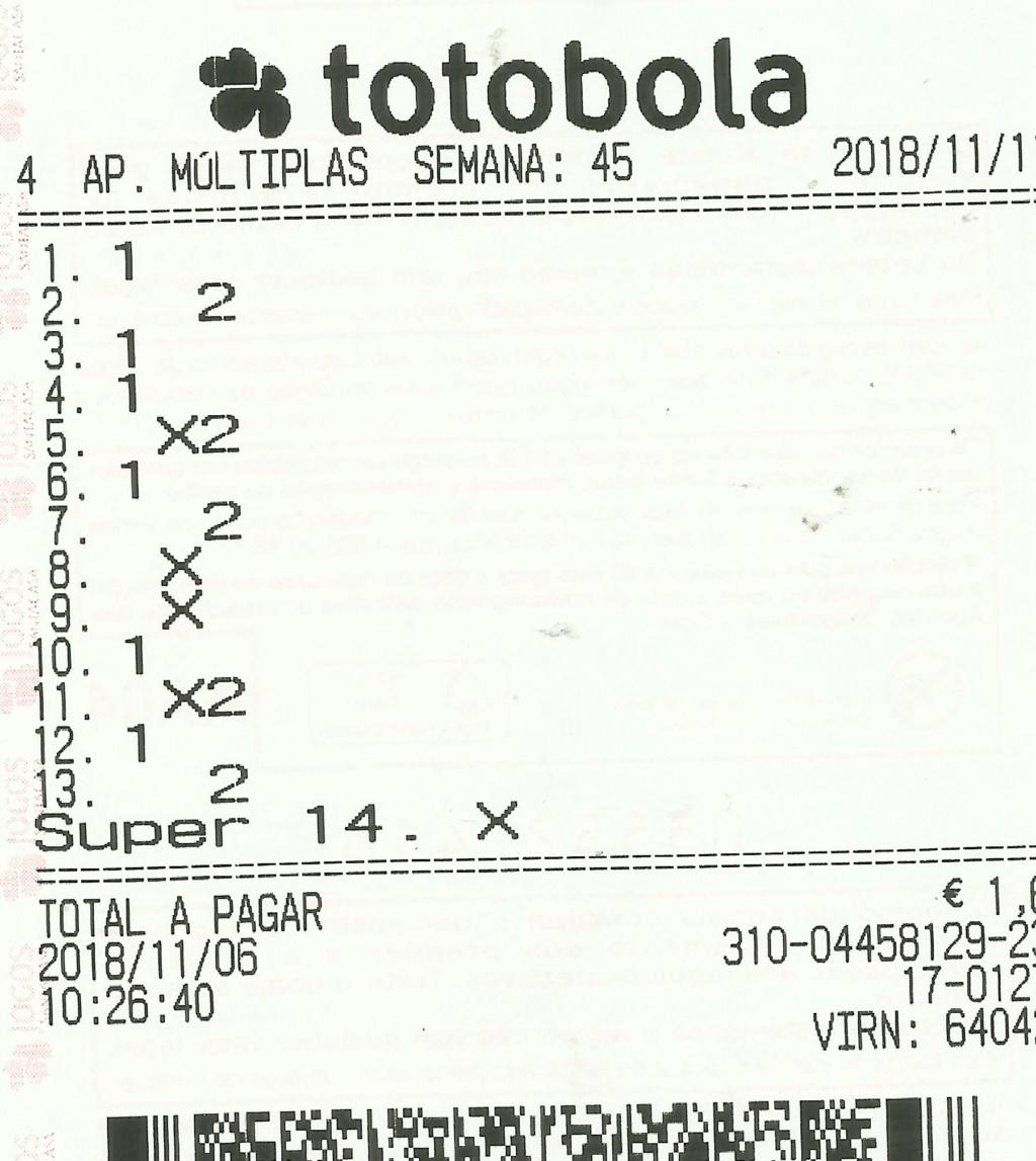 Totobola - Opiniões para o concurso 45/2018 Totob134