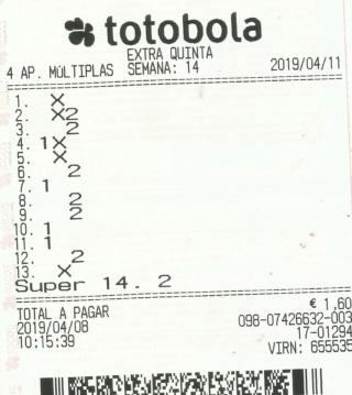 totobola - Totobola - Opiniões para o concurso 14 /2019_Extra Totob160