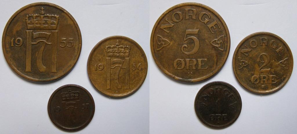 Tres monedas noruegas Trio_o10