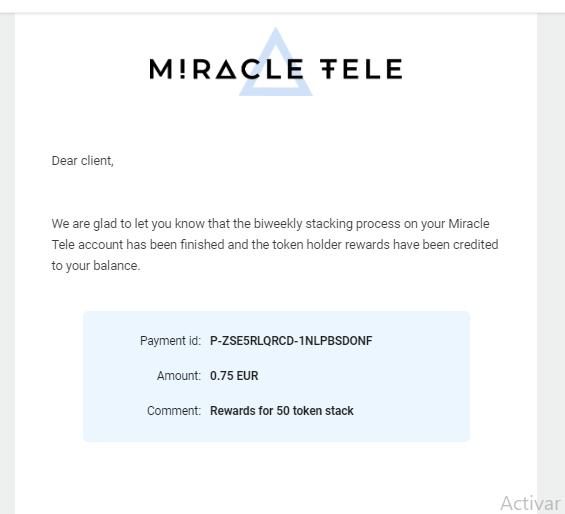 [NUEVA] MIRACLE TELECOM NUEVO AIRDROP ganancias en euros te regalan 100 tokens 9_de_m10