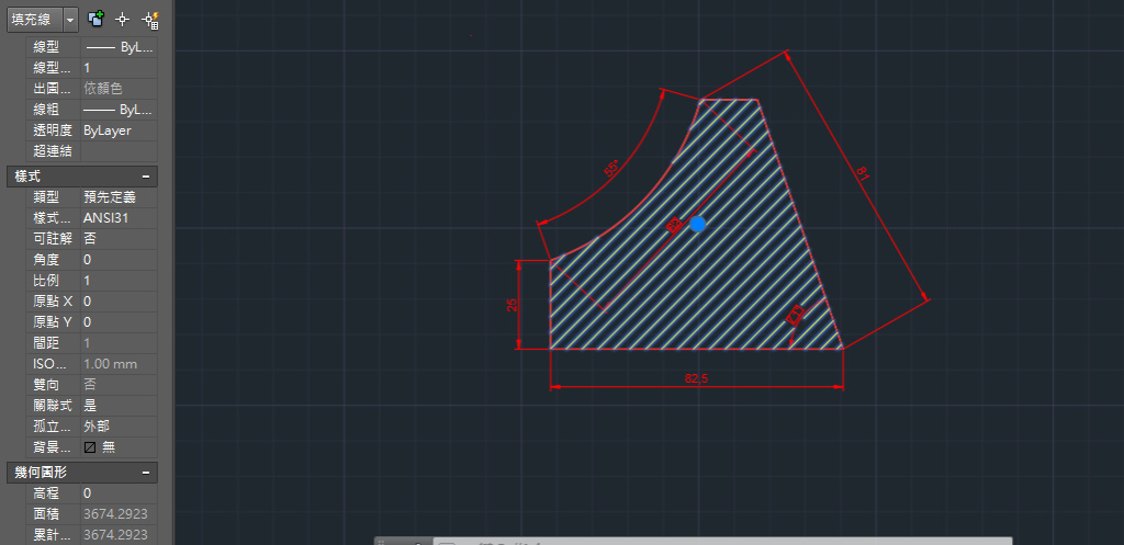 AutoCAD教學 幾何圖形習題04 10210