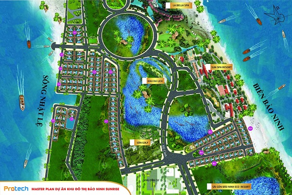 Đất biệt thự view biển và view sông gần trung tâm thành phố Đồng Hới giá chỉ 24 triệu 1 mét vuông Ban-do10