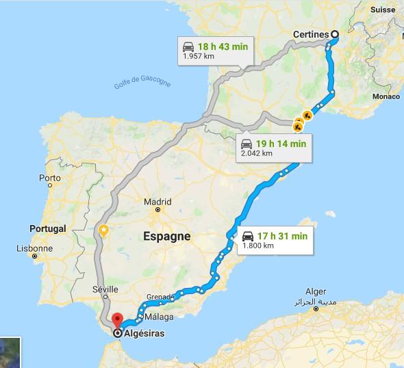 [FRANCE] Via le Maroc en partant de l'AIN (01) 0011