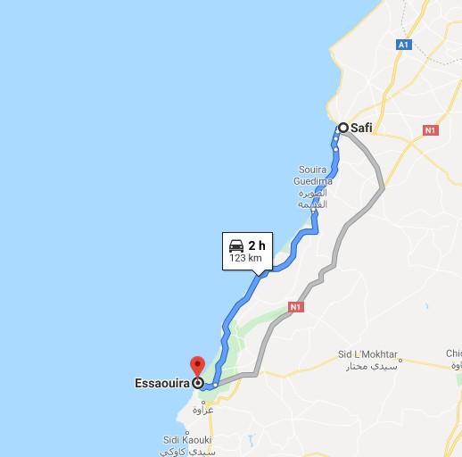 [Carburant, Routes, Police] route SAFI-ESSAOUIRA Carte_13