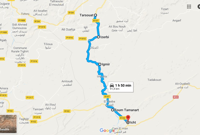 [Carburant, Routes, Police] TAFRAOUTE-TARSOUATE -IZERBI-.... Projet10