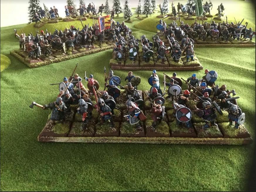 Vends armée peinte saxon Foundry et un peu de Crusader Saxon311