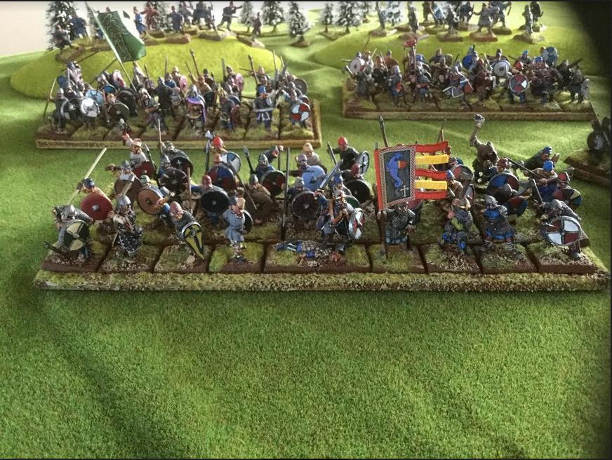 Vends armée peinte saxon Foundry et un peu de Crusader Saxon610