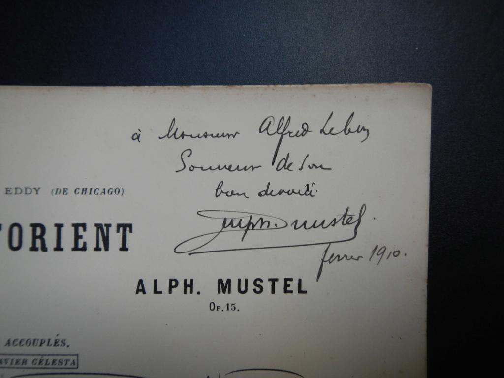 partitions de Alphonse Mustel signées avec message à Alfred Lebon  Dscn9111