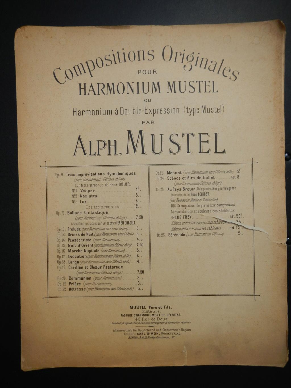 partitions de Alphonse Mustel signées avec message à Alfred Lebon  Dscn9112
