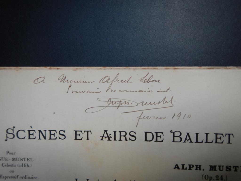 partitions de Alphonse Mustel signées avec message à Alfred Lebon  Dscn9113