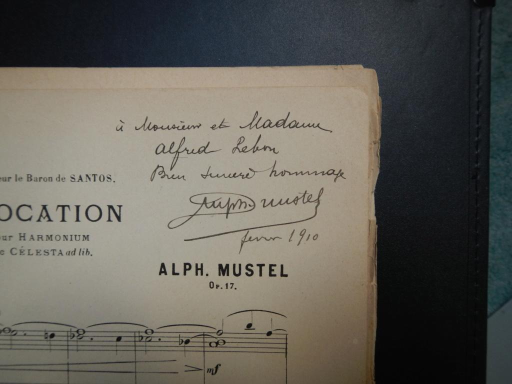 partitions de Alphonse Mustel signées avec message à Alfred Lebon  Dscn9114
