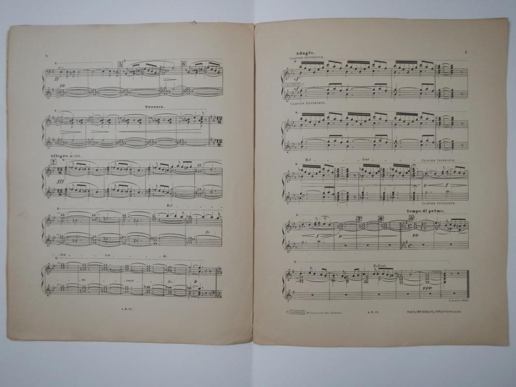partitions de Alphonse Mustel signées avec message à Alfred Lebon  Dscn9411