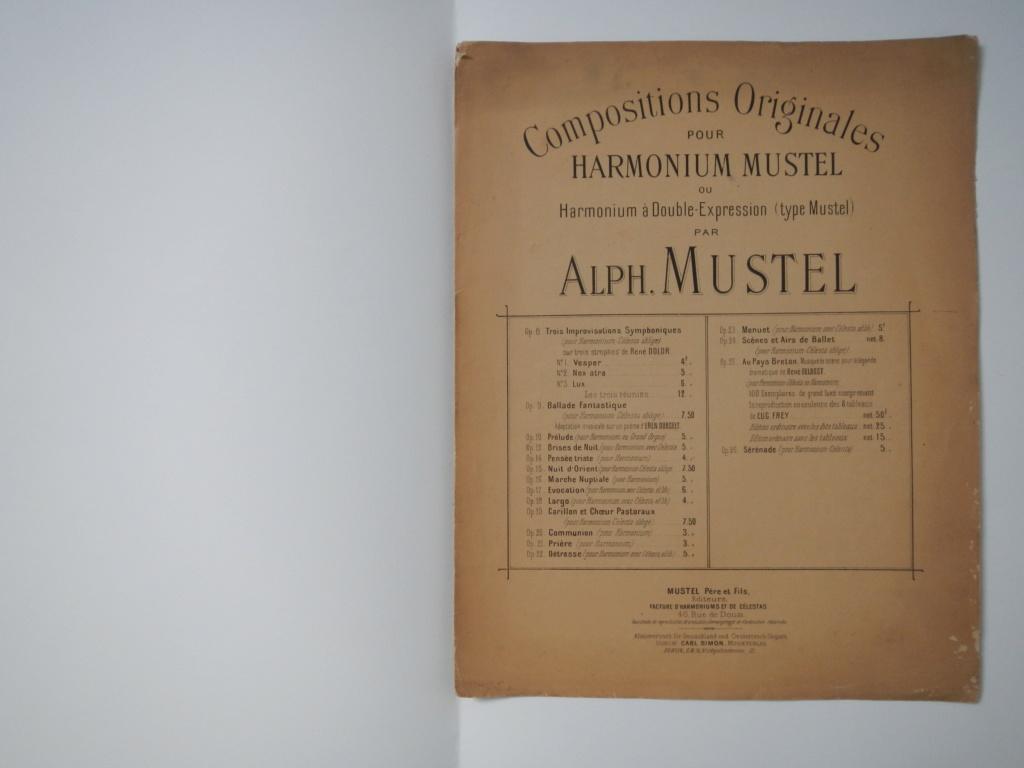 partitions de Alphonse Mustel signées avec message à Alfred Lebon  Dscn9413