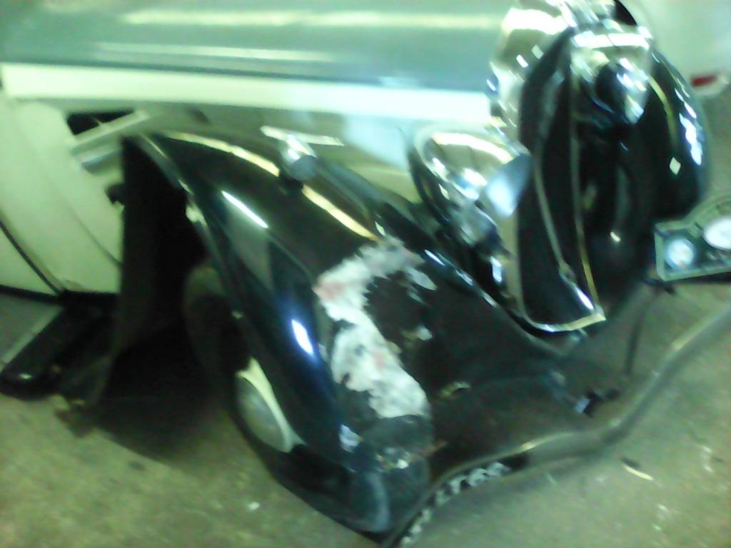 Notre Ami Tassin Alain victime d'un accident de la circulation avec sa 01, cet après-midi N110