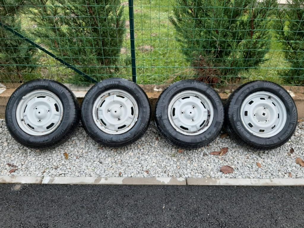 Vds 5 jantes tôles SAMBA GLS montées pneus 165/70/13 neufs 20191119