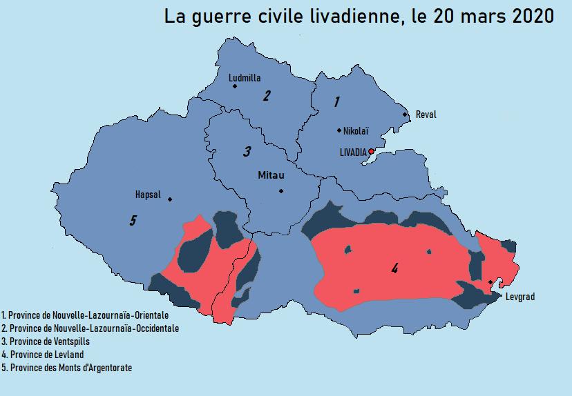 [CARTES] Situation politique et militaire de la Livadie en guerre civile 202010