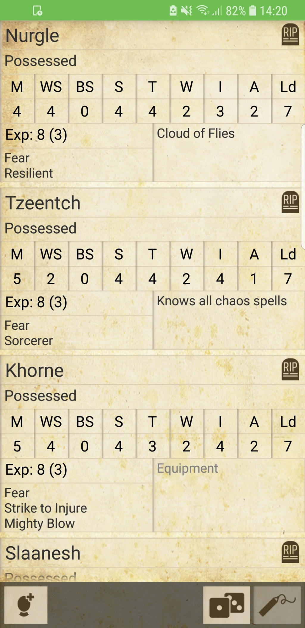 possessed - Possessed god dedicated warbands alternate rules Screen12