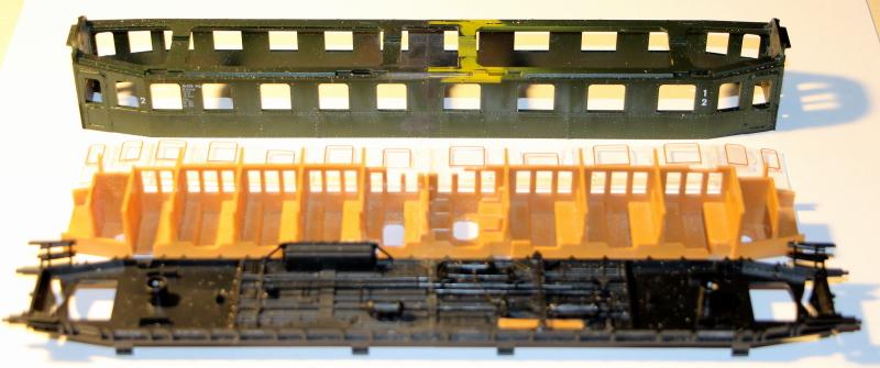 Bau eines ABC4ü-23 der Saar-Eisenbahn (H0) Abc4z-12