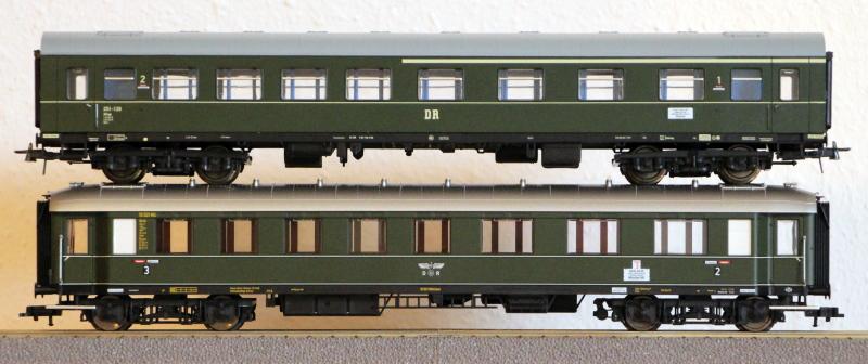 Die Einheits-Schnellzugwagen als H0-Modelle Fl845815