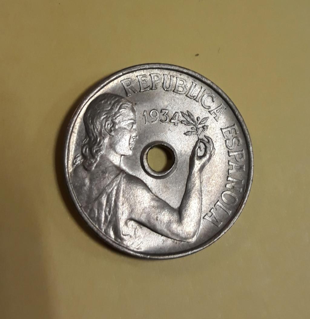 25 céntimos 1934. Guerra Civil 20200214