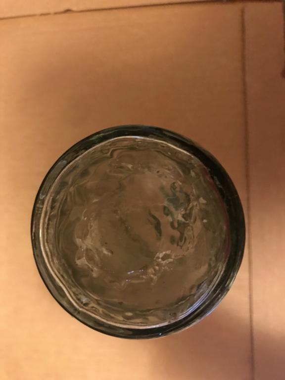 Green bottle with grape pattern 93b62d10