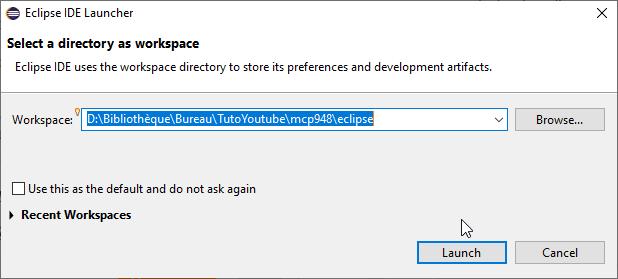 Installer Eclipse IDE Jw7b4j10