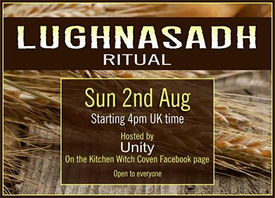 Live Lughnasadh ritual on the FB Coven page  10663710
