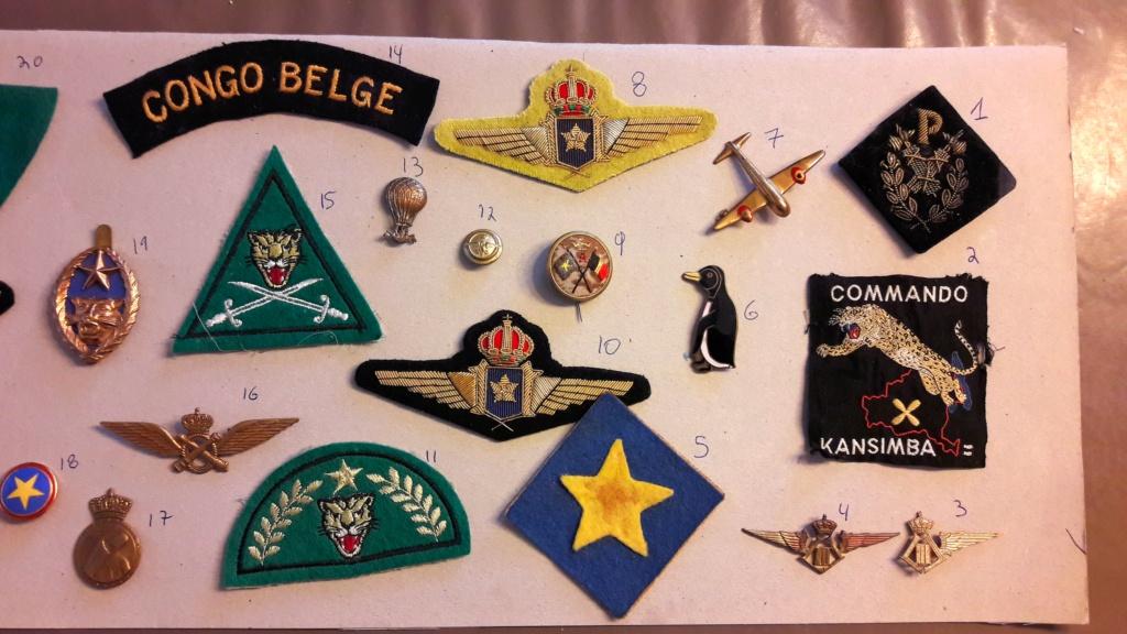 Insignes Congo Belge  20201010