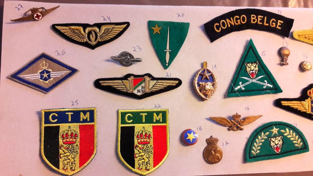 Insignes Congo Belge  20201012