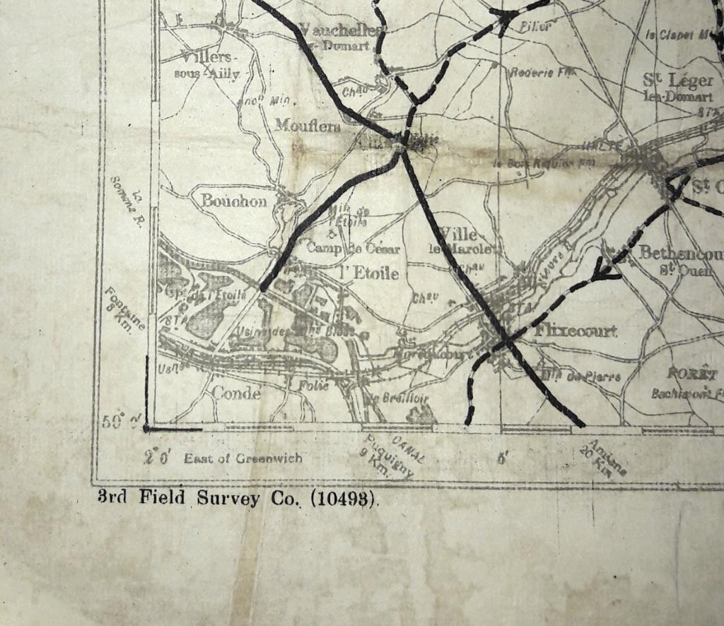 """Carte militaire US de la 3ème armée avril 1918 """"LENS"""" 20201209"""