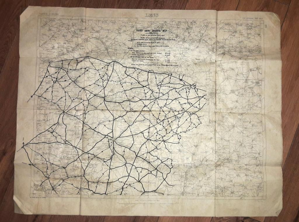 """Carte militaire US de la 3ème armée avril 1918 """"LENS"""" 20201210"""