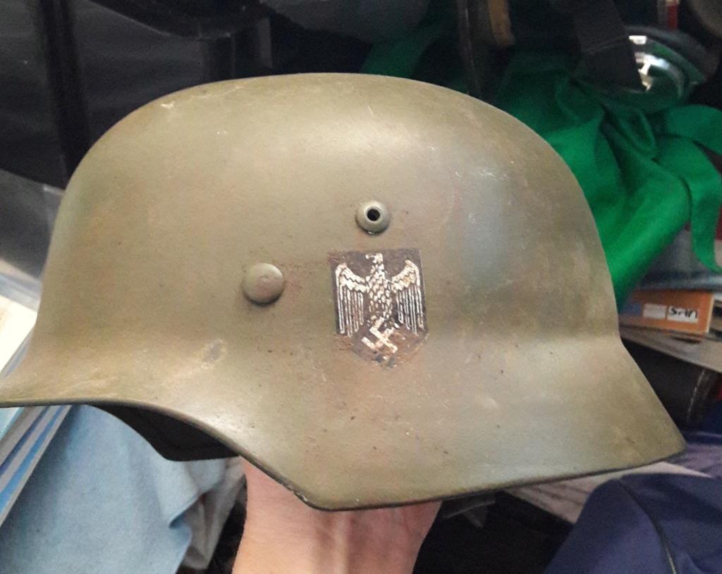 Authentification et estimation de ce casque allemand WW2  20201270