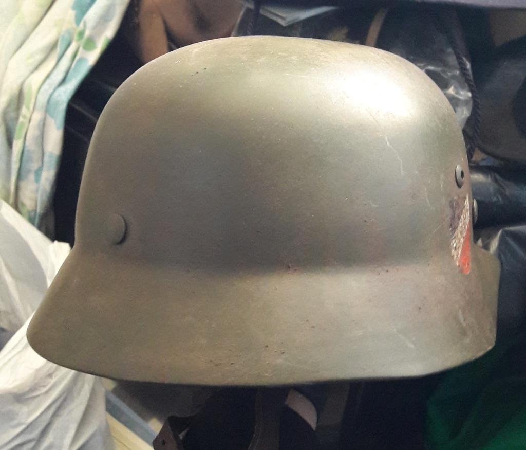 Authentification et estimation de ce casque allemand WW2  20201271