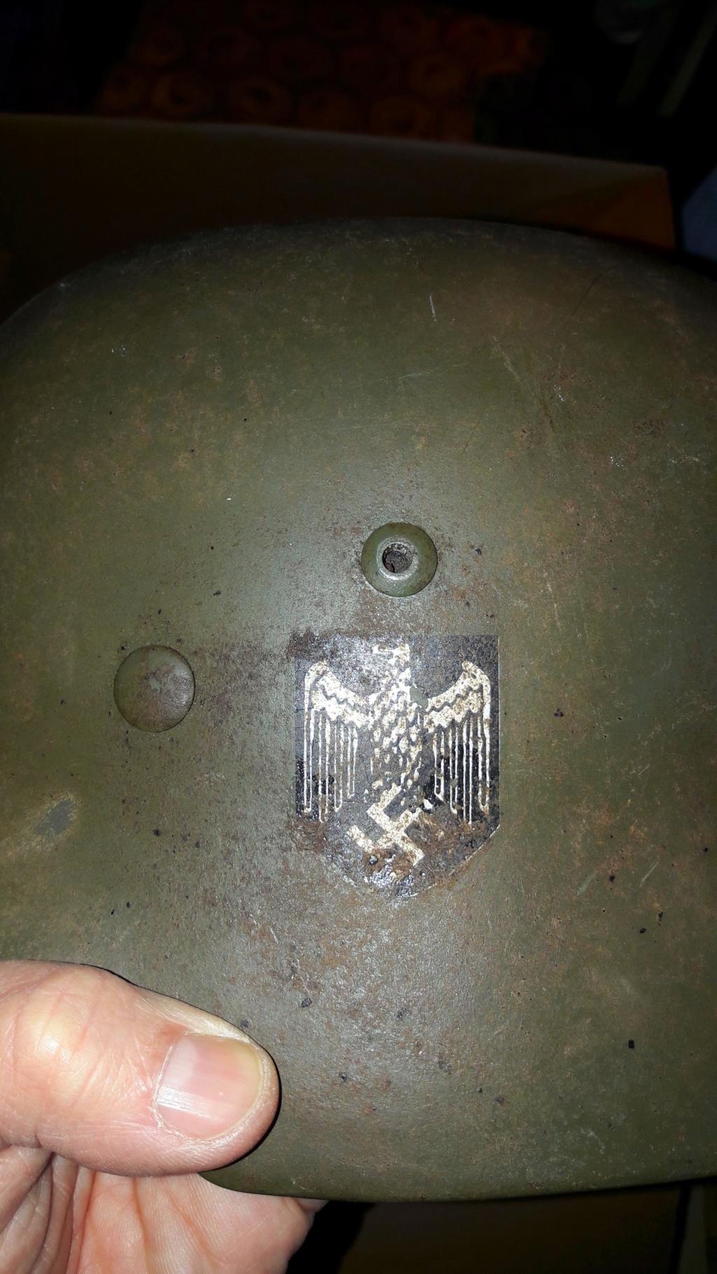 Authentification et estimation de ce casque allemand WW2  20201277