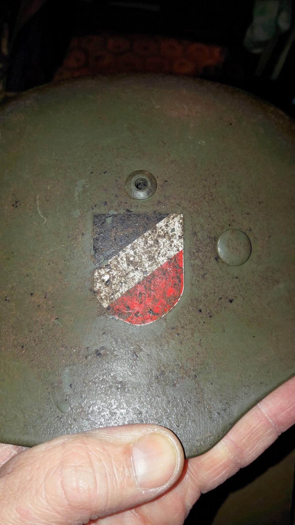 Authentification et estimation de ce casque allemand WW2  20201278