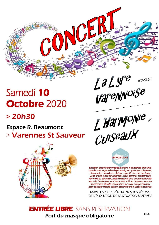 concert harmonie municipale de Varennes Saint Sauveur 71480 Affich10