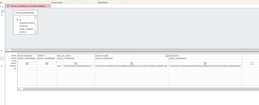 Gerar relatório do mês todo, segregado por dia. Screen10