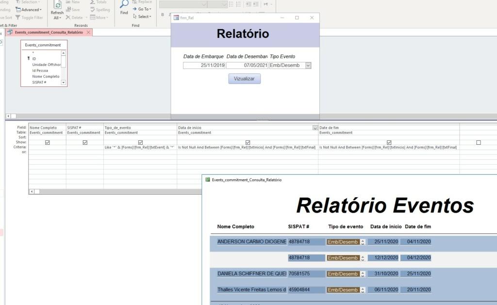 Gerar relatório do mês todo, segregado por dia. Screen11