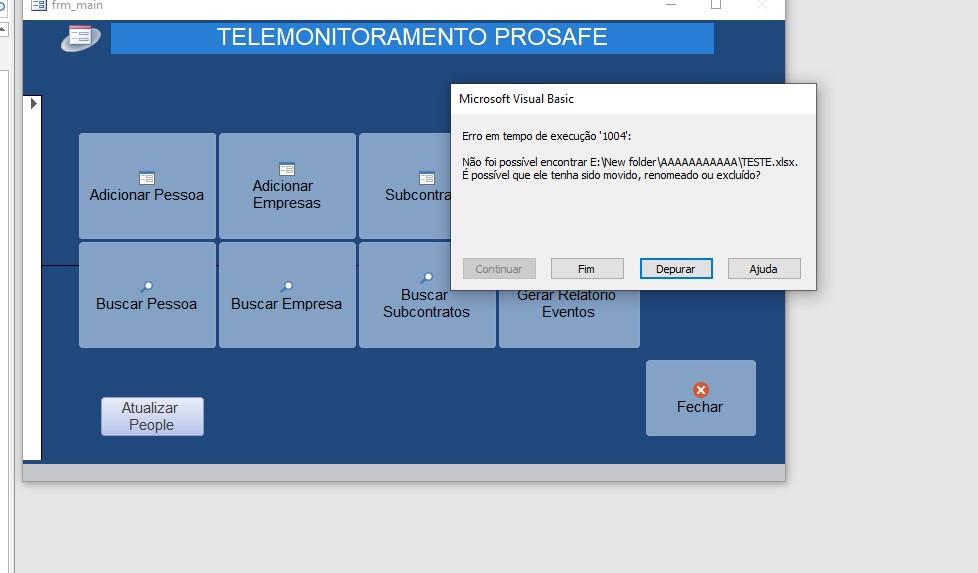 """[Resolvido]Exportar  dados """"atualziar"""" via (consulta ou tabela) para uma sheet específica Excel Screen13"""