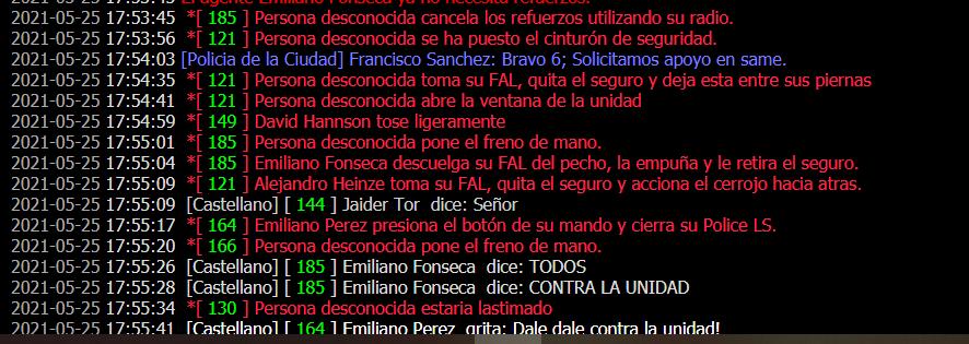 Reporte a Alejandro Heinze, Emiliano Fonseca, Emiliano Perez y Francisco Sanchez Captur44