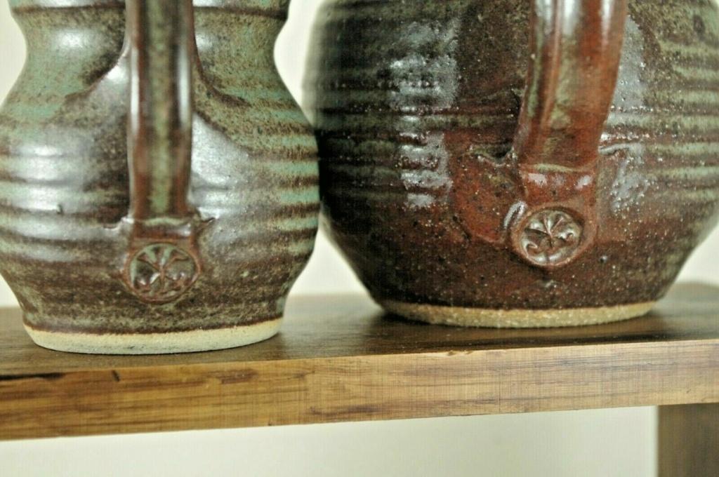 Studio Pottery Ribbed Jugs S-l16011