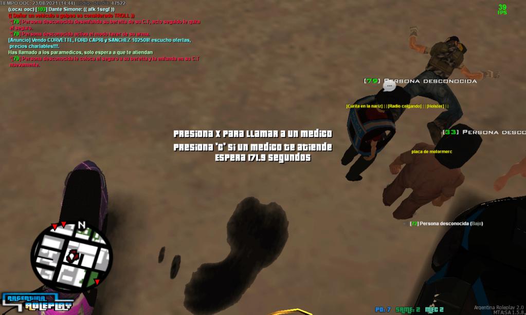 DM Policia Antirol ZS Sarah Volkov Apunta con armas a civiles y me mata sin rol y sin motivos en mecanico zona segura Mta-sc13