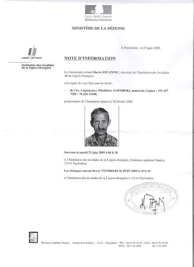 Un Ancien S'en vas,Wladislaw Jaworski Dcd10