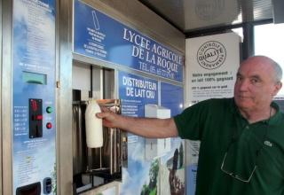 Du lait cru entier en libre service à Rodez Distri10
