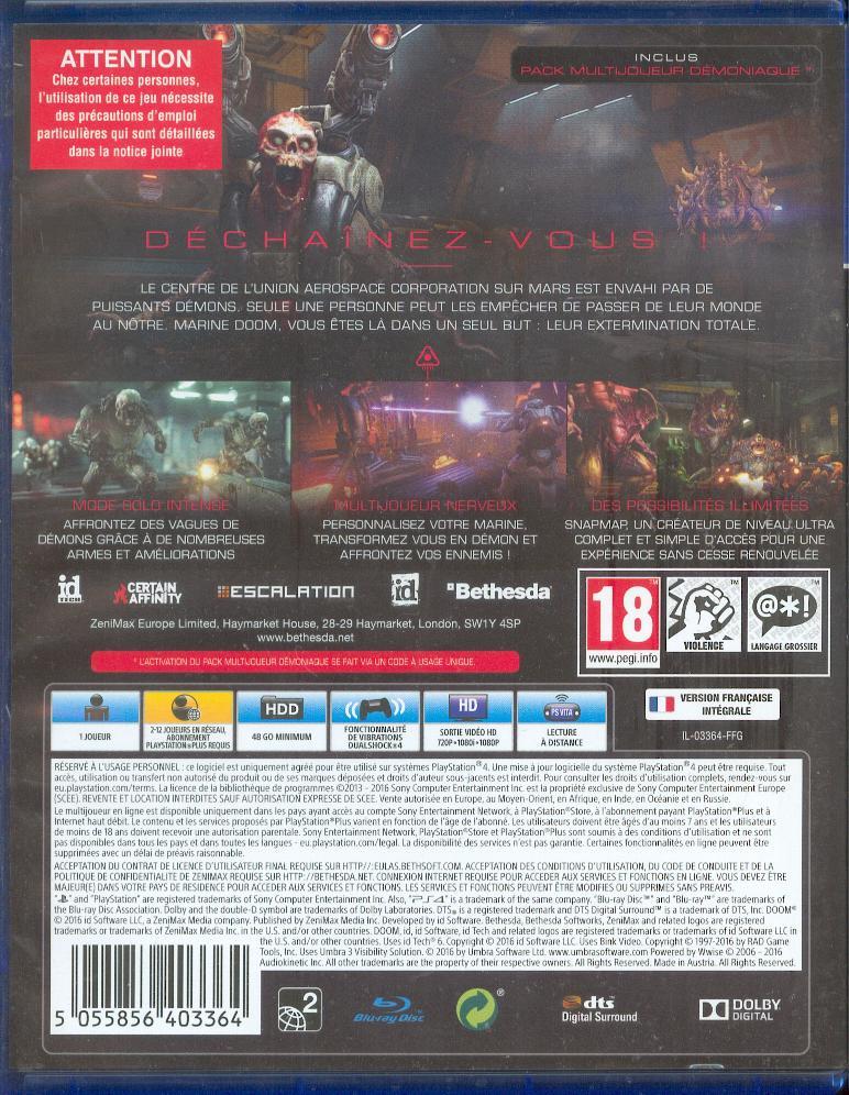 Les jeux PS4 à Korok Doom0012