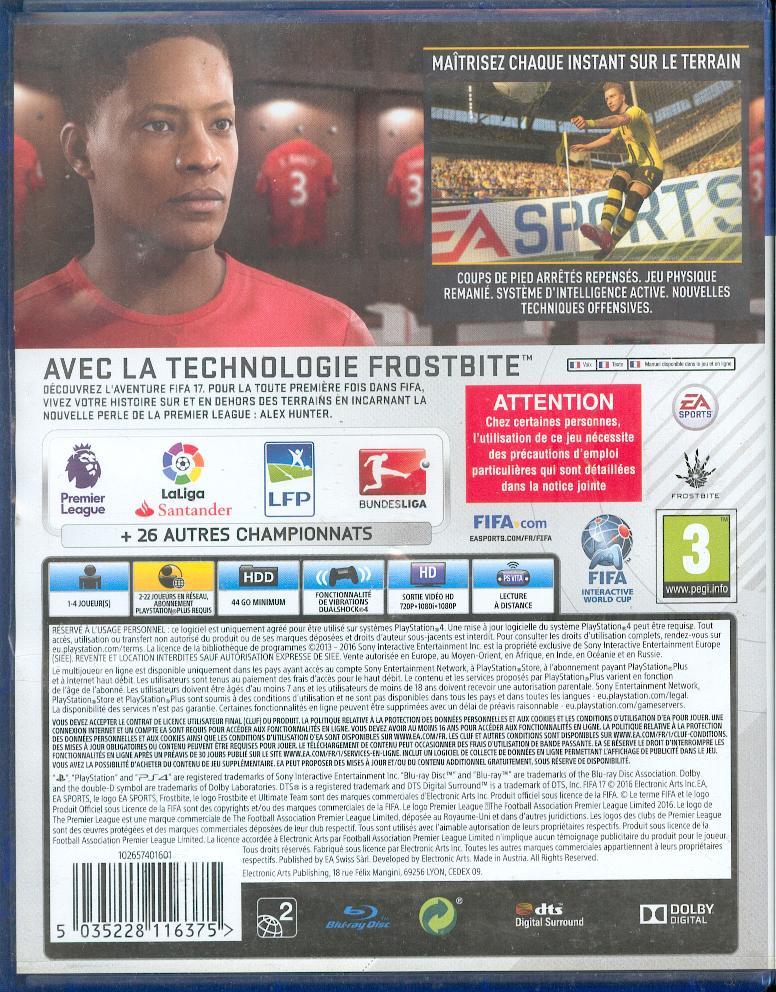 Les jeux PS4 à Korok Fifa1711