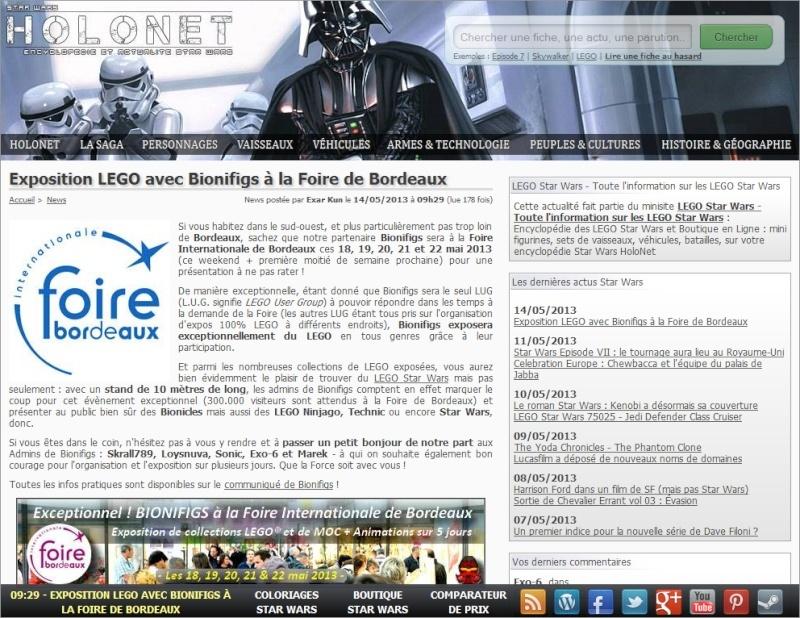 [Expo] BIONIFIGS à la Foire Internationale de Bordeaux du 18 au 22 mai Holone10