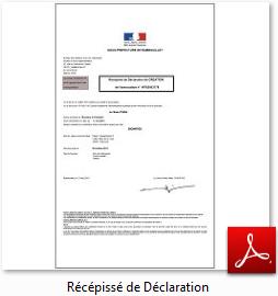 [Association] Récépissé de déclaration en préfecture Sans_t13